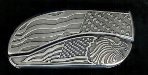 flag flag eagle belt buckle knife