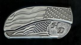 flag flag sterling silver hd initials belt buckle knife