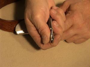 belt buckle knife instructions step 11