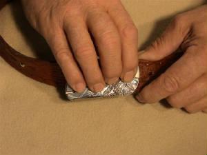 belt buckle knife instructions step 5