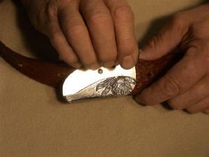belt buckle knife instructions step 6