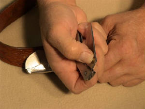 belt buckle knife instructions step 7
