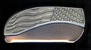 American Flag Belt Buckle Knife