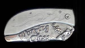 Add Sterling Silver Belt Buckle Knives