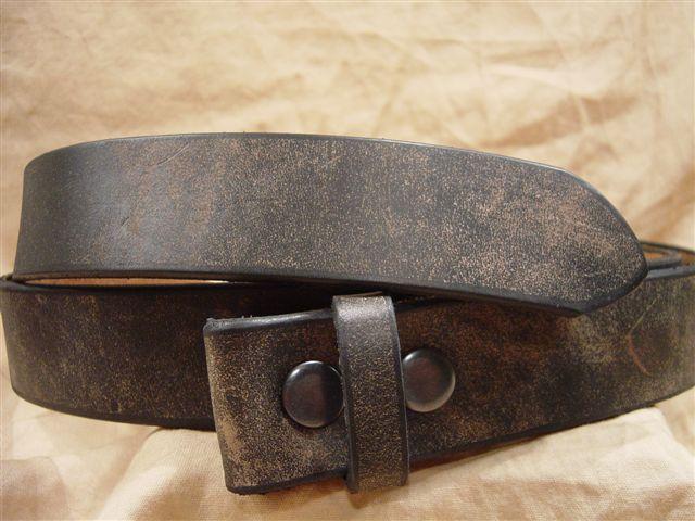 distressed black men's women's leather belts