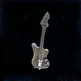 #7 belt buckle sterling silver guitar