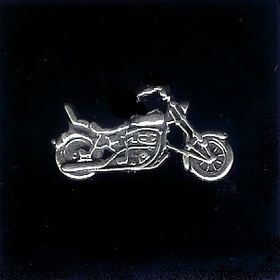 #42 motorcycle belt buckle sterling silver charms