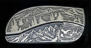 Bass Belt Buckle Knife