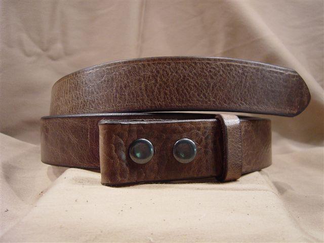textured chocolate leather belt