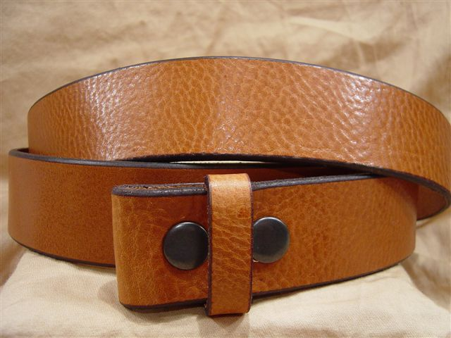 textured saddle leather belt