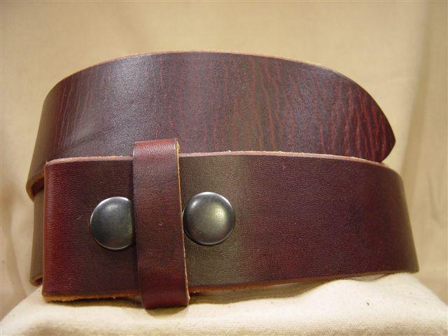 vintage chestnut leather belt