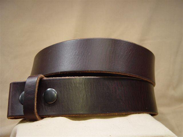 vintage dark brown leather belt