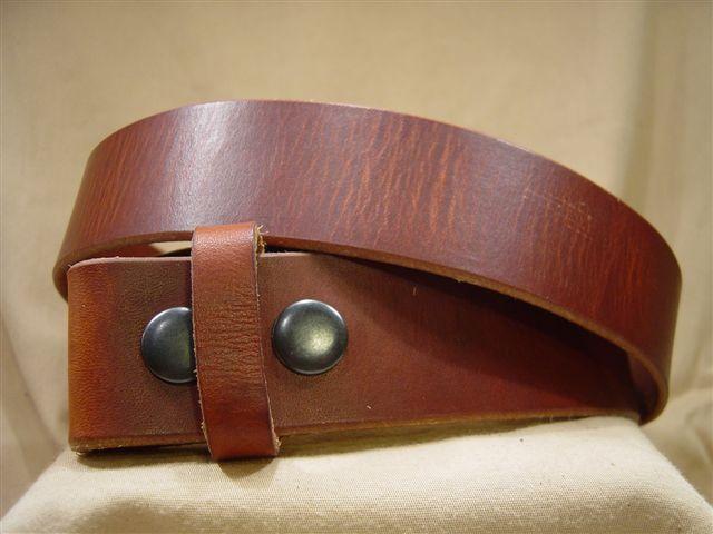 vintage tan leather belt